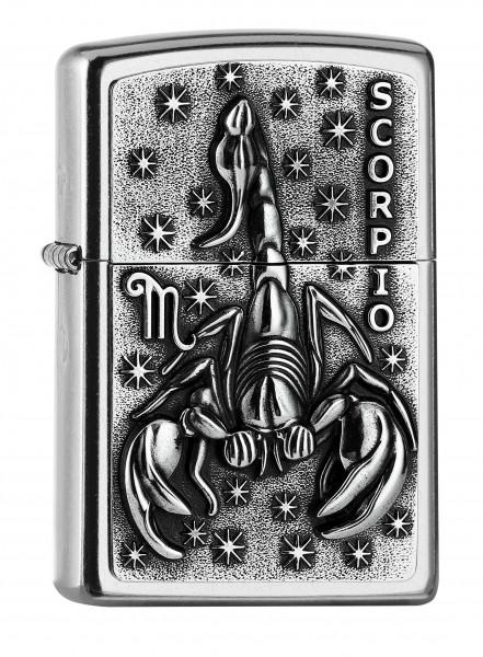 Zippo ® Feuerzeug Sternzeichen Skorpion   Scorpio Emblem