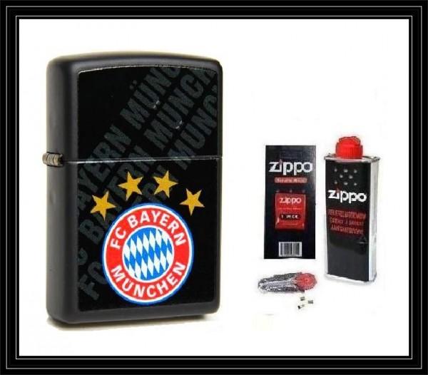 Zippo ® Feuerzeug FC Bayern München   Black Matte & Zubehör L