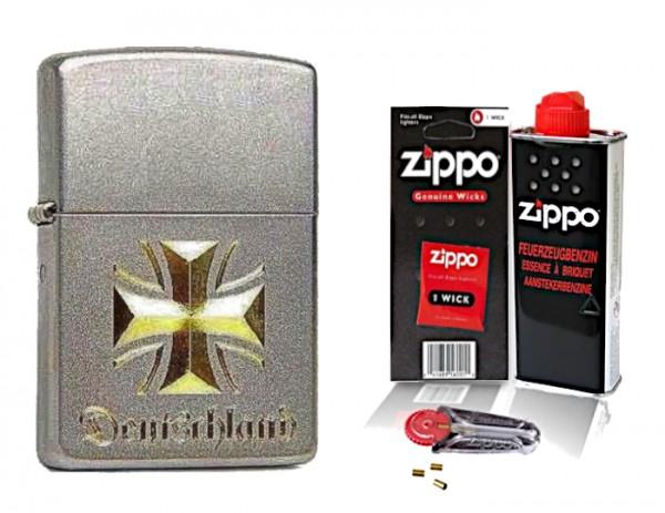 Zippo Eisernes Kreuz Deutschland mit Zubehör L