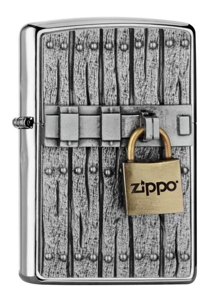 Zippo Feuerzeug Closed Vintage Lock Emblem