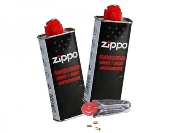 Zubehör Kit 2x Zippo Benzin und 1x Zippo Feuersteine