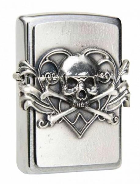Zippo Skull with Heart Anne Stokes 2001330