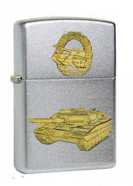 Zippo Feuerzeug Kampfpanzer LEOPARD 2 Diamantgravur