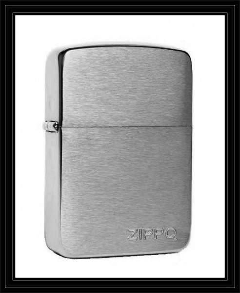 Zippo ® Feuerzeug Replica 1941 Chrome brushed brushed LOGO