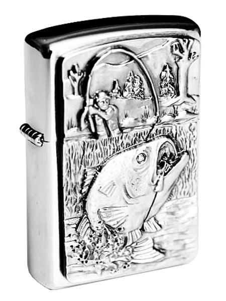 Zippo Feuerzeug Bass Fishing Emblem