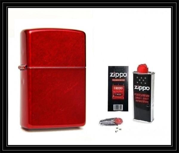 Zippo ® Feuerzeug Candy Apple Red & Zubehör L