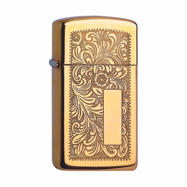 Zippo ® Feuerzeug Venetian Brass Slim
