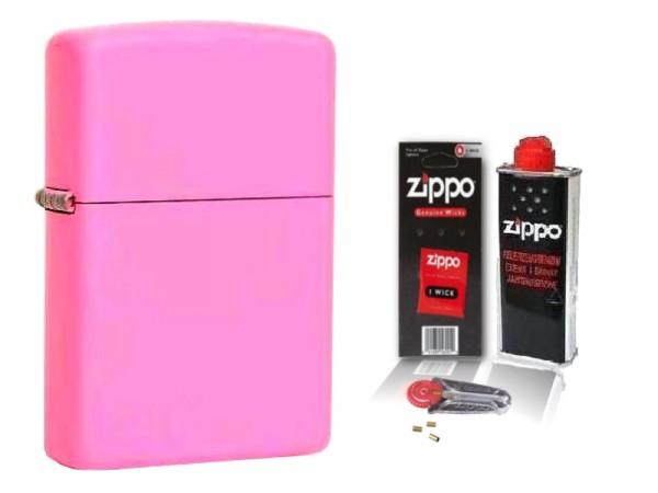 Zippo ® Feuerzeug Pink Matte & Zubehör L