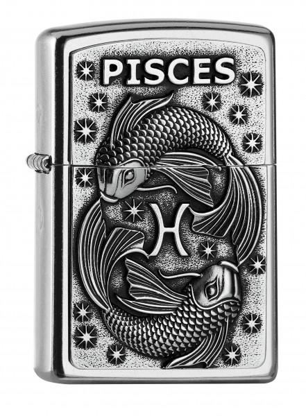 Zippo ® Feuerzeug Sternzeichen Fische | Pisces 3D