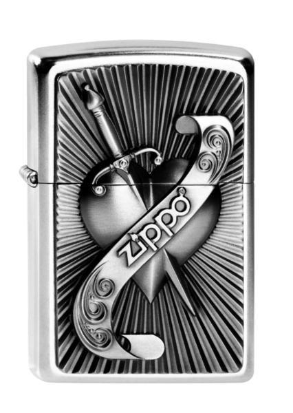 Zippo ® Feuerzeug Heart With Sword