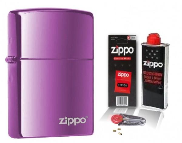 Zippo ® Feuerzeug Abyss Logo mit Zubehör L