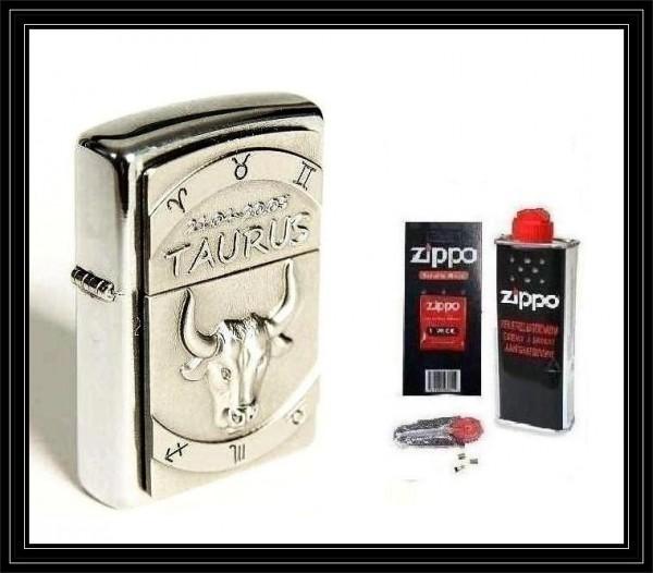 Zippo ® Feuerzeug Sternzeichen Stier | Taurus 3D & Zubehör L