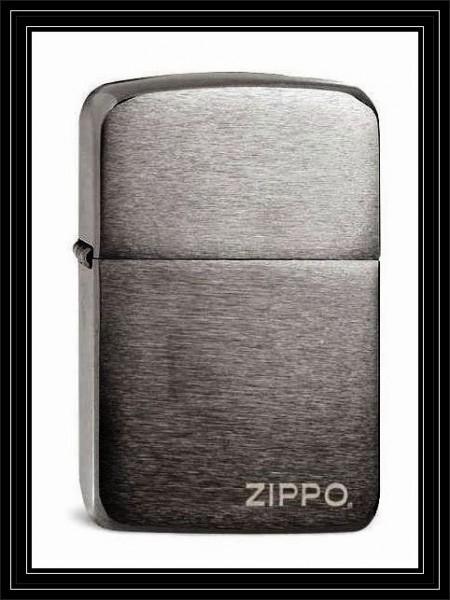 Zippo ® Feuerzeug Replica 1941 Black Ice LOGO