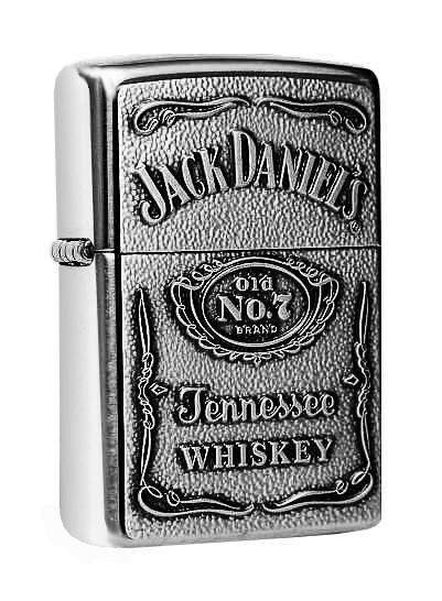 Zippo ® Feuerzeug Jack Daniels Chrome Label Emblem