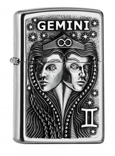 Zippo Sternzeichen Zwilling   Gemini Emblem