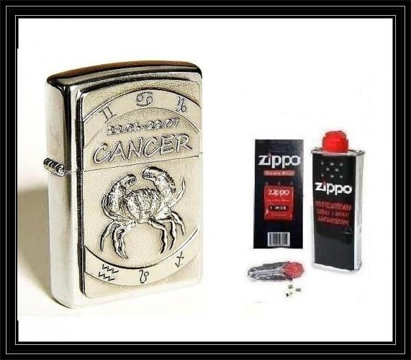 Zippo ® Feuerzeug Sternzeichen Krebs   Cancer 3D & Zubehör L