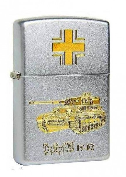 Zippo Feuerzeug Balkenkreuz Panzer IV F2 Gravur