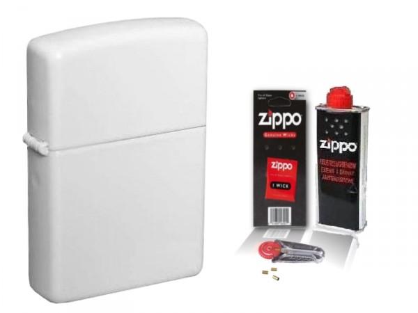 Zippo ® Feuerzeug White Matte & Zubehör L
