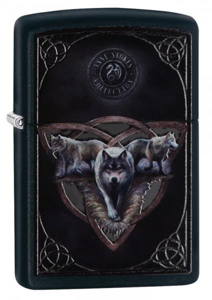 Zippo ® Feuerzeug Anne Stokes 3 Wolves