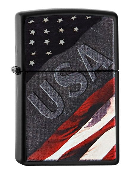 Spring 2016 Zippo ® Feuerzeug USA / Stars & Stripes Black Matte