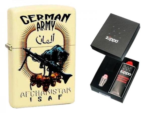 Zippo Bundeswehr Afghanistan German Army im Geschenkset