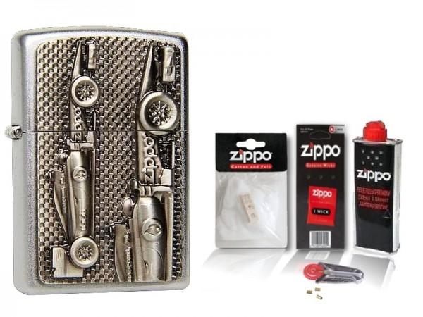 Zippo Feuerzeug FORMEL 1 Rennwagen mit Zubehör XL