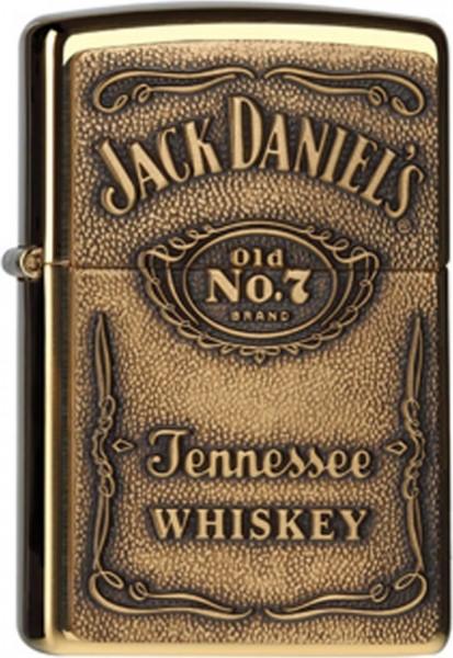Zippo ® Feuerzeug Jack Daniels Brass Label Emblem