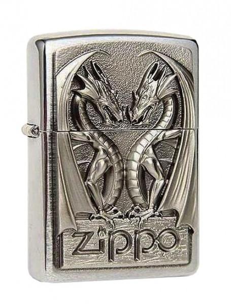 Zippo ® Feuerzeug Twins Dragon Heart Emblem
