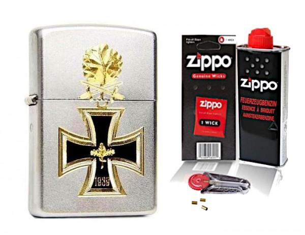 Zippo Eisernes Kreuz 1939 Ritterkreuz mit Zubehör L