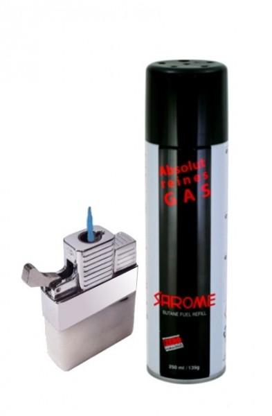 Benzin Feuerzeug Gaseinsatz mit Jetflame & Sarome Gas
