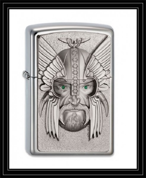 Zippo ® Feuerzeug Green Eyed Viking Emblem | Neu Spring 2013