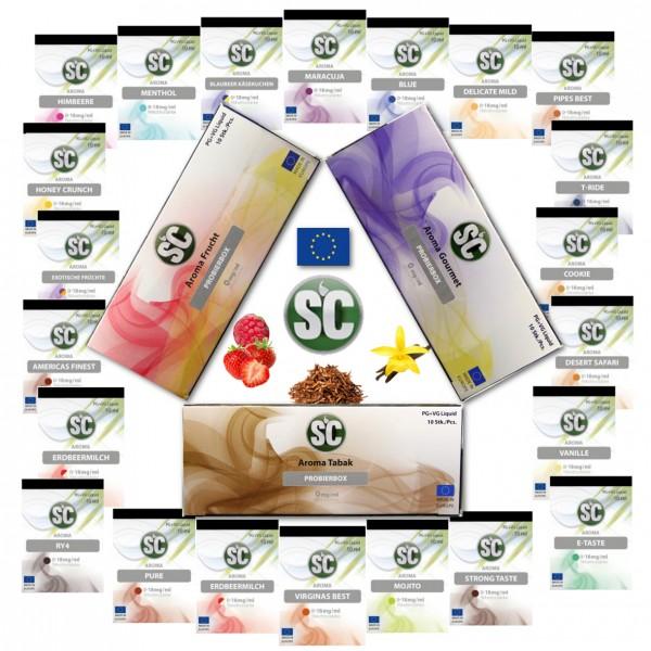 10x 10ml SC E-Liquid Alle Sorten - 100ml Liquid