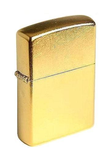Zippo Feuerzeug Brass Street Gold