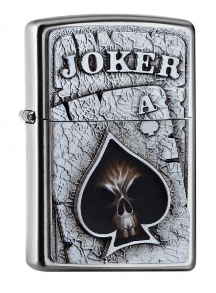 Zippo Feuerzeug Joker Skull Emblem Choice 2017