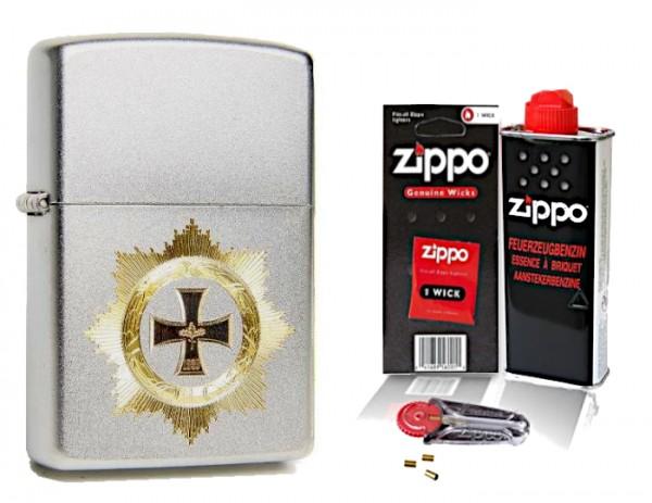 Zippo Deutsches Kreuz mit Zubehör L