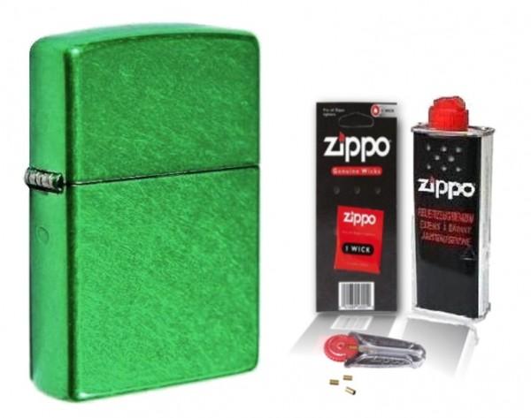 Zippo Feuerzeug Meadow Matte mit Zubehör L