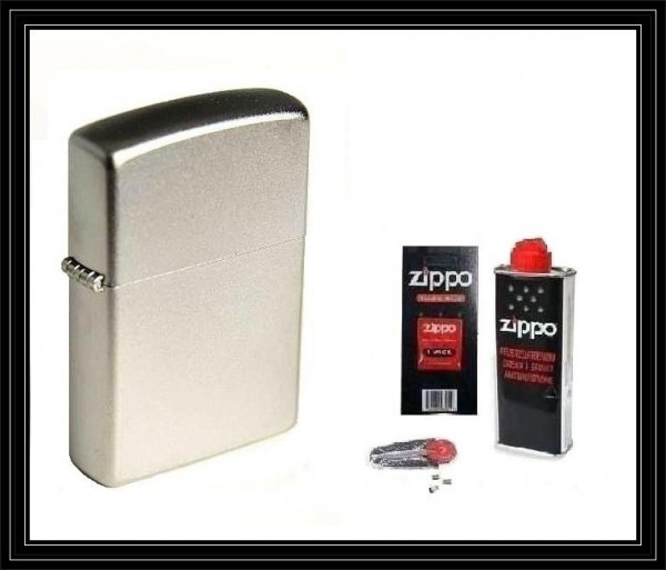 Zippo ® Feuerzeug Satin Chrome & Zubehör L